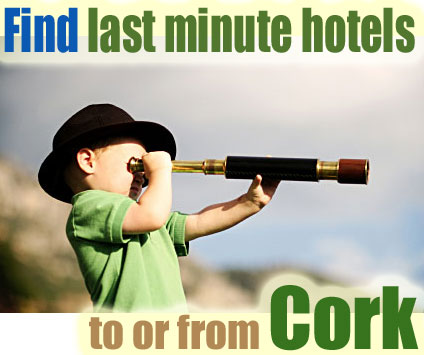 find last minute hotels to or from Cork, Ireland