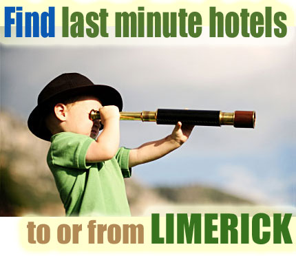 find last minute hotels to or from Limerick, Ireland