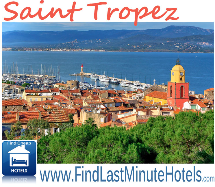 find cheap last minute hotels in Saint Tropez, France
