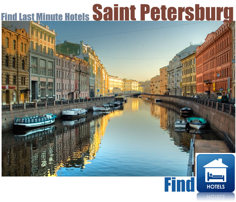 find last minute hotels in Saint Petersburg